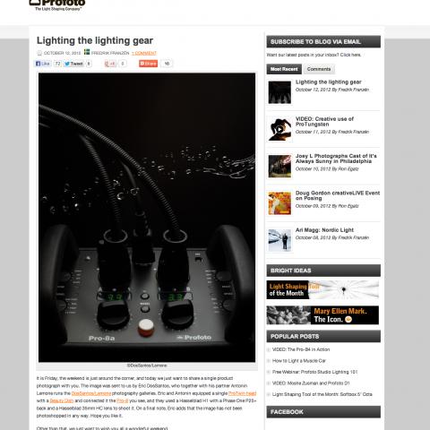Bloggdesign Profoto Blogg