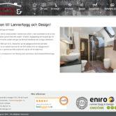 Webbdesign: Byggfirman Lanner Bygg & Design