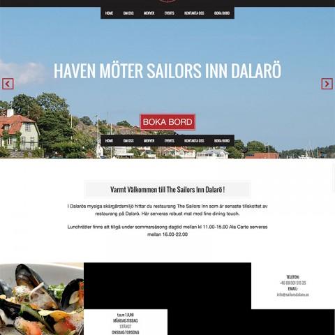 Webbdesign för Sailor Inn Restaurang