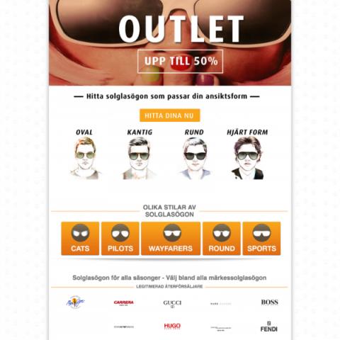 Webbdesign E-handel Sunspot Store