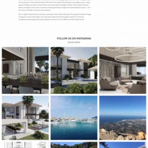Webbdesign: Fastighetsutvecklare  – Celine Group