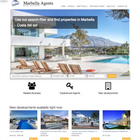 Webbdesign & webbutveckling CRM – Marbellaagents.com