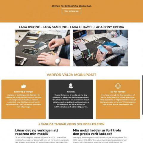 Webbdesign – Mobilpost.se: Mobiltelefon reparationer